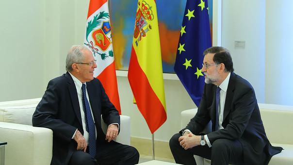 PPK y Rajoy en el Salón Tápies.