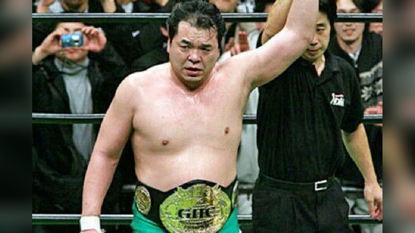 Mitsuharu Misawa fue campeón 5 veces del AJPW Triple Crown Heavyweight Championship
