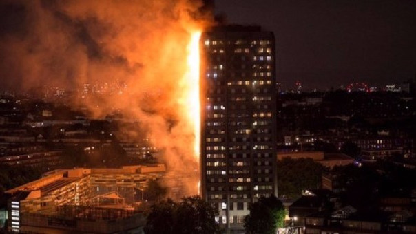 Incendio en Edificio en Londres
