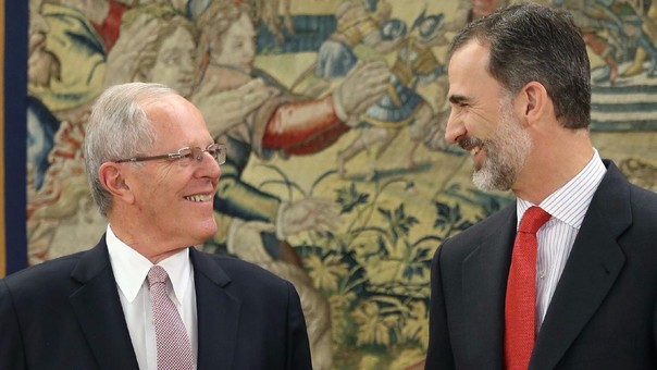 El presidente Pedro Pablo Kuczynski se reunión con el rey Felipe VI de España.