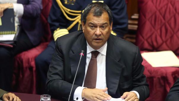 El ministro Jorge Nieto compareció ante la Comisión de Defensa del Congreso.