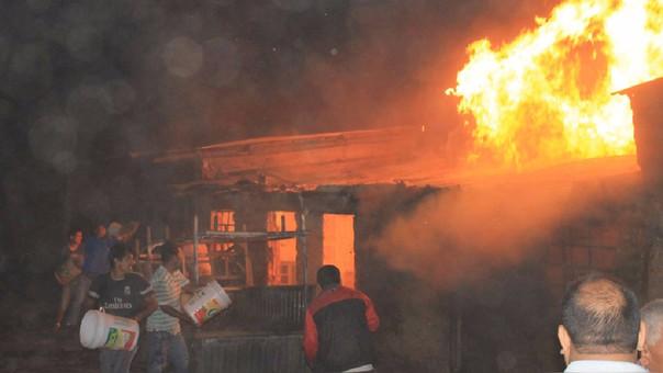 Incendio en grifo de Ambo