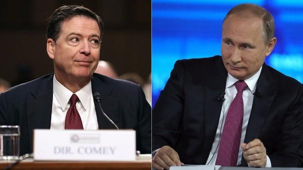 Vladímir Putin se ofreció a darle asilo a James Comey si se siente perseguido por la Justicia de EE.UU.