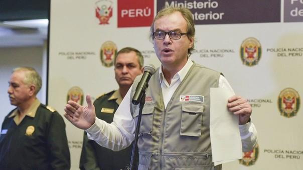 Carlos Basombrío deberá responder a un pliego de preguntas del Congreso sobre su gestión como ministro del Interior.