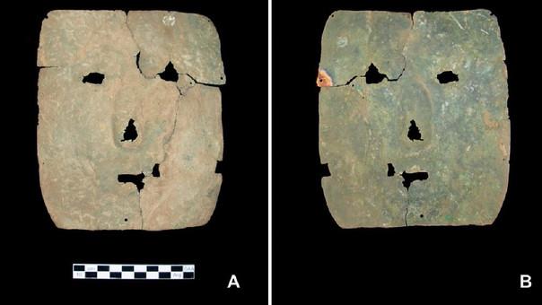 Esta máscara sería la escultura de cobre más antigua de América.