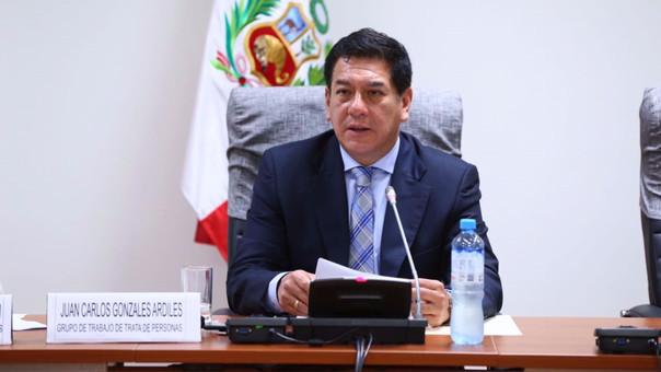 El economista Juan Carlos Gonzales congresista de Fuerza Popular por Lima. También es presidente de la Comisión de Ética, puesto en el que reemplazo al también fujimorista Segundo Tapia.