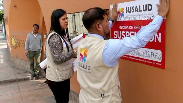 Clausuraron la clínica Morillas por presentar irregularidades según SuSalud.