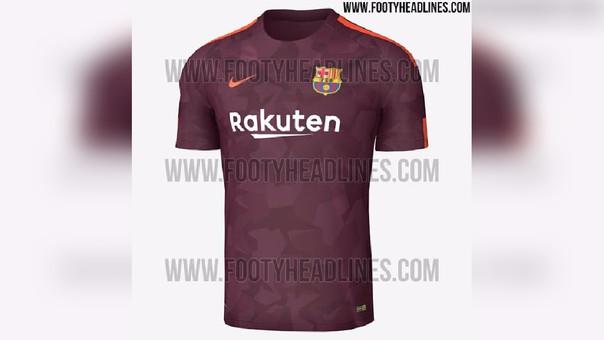 Barcelona  filtran la tercera camiseta para la temporada 2017-2018 ... 4d23a9555cd