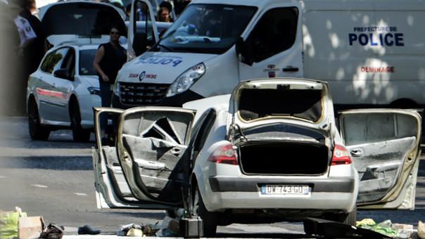 El auto del agresor.