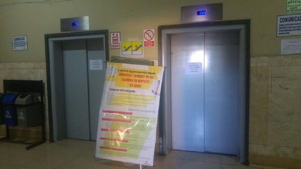 Cinco heridos por caída de ascensor en hospital de Arequipa