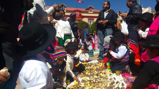 Con danzas niños conmemoran día del campesino en Puno  3263fcbdd0cd8