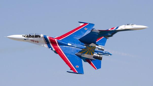 SU-27, el avión que protagonizó el riesgoso encuentro.