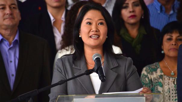 Keiko Fujimori, lideresa de Fuerza Popular.