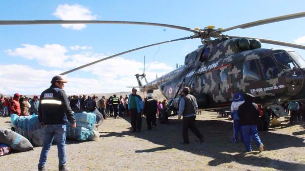 En 10 localidades de la región Puno  se entrega la ayuda humanitaria.
