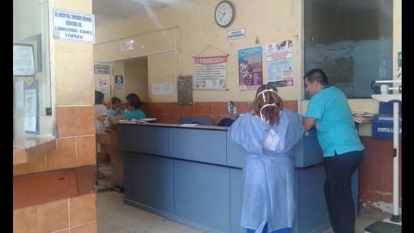 Área de emergencia del hospital La Caleta de Chimbote