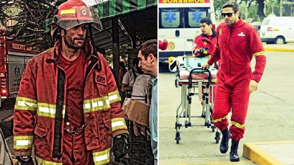 Paco Bazán durante algunas de las emergencias en las que ayudó.