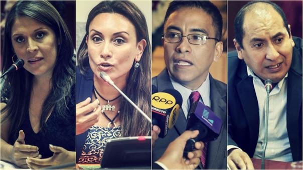 Fuerza Popular, Peruanos por el Kambio y Frente Amplio han perdido congresistas desde que inició el periodo 2016-2021.