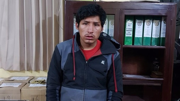 Wilson Genaro Mamani Yucra, uno de  los miembros de la banda de asaltantes.