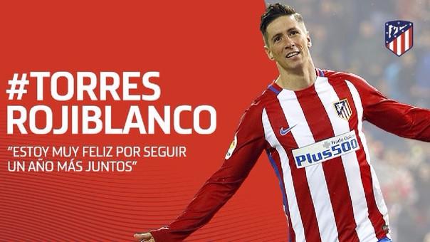Fernando Torres renovó un año más con el Atlético de Madrid