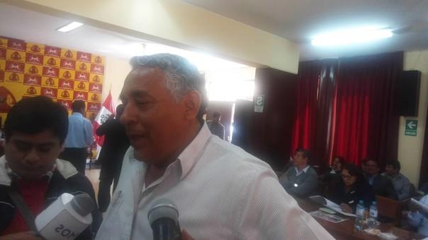 Primer regidor de la MPS, Julio Cortez Rojas