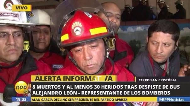 El trabajo de rescate de los bomberos concluyó pasadas las 19 horas.