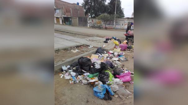 Acumulación de basura en Trujillo