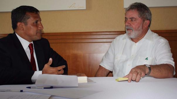 Ollanta Humala y Lula da Silva. Se investigan contribuciones millonarias a la campaña del nacionalismo en 2011.