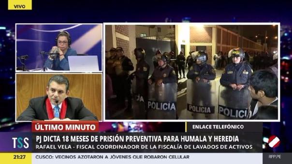 Rafael Vela habló sobre el proceso a Humala y Heredia.