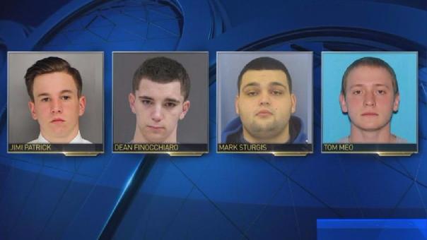 Los cuatro jóvenes desaparecidos.