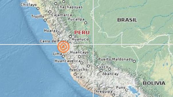 Un sismo de 4.5 grados remeció la región Lima esta tarde