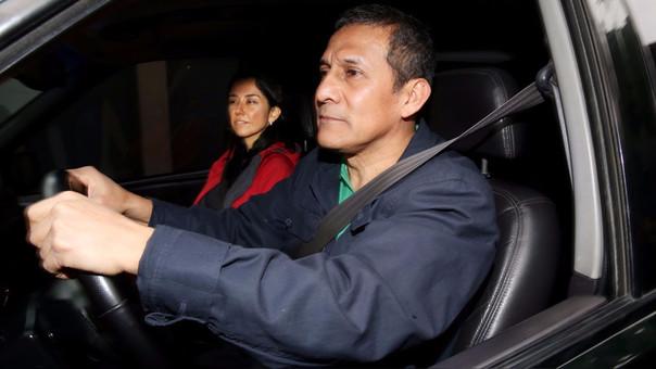 Ollanta Humala y Nadine Heredia la tarde del último jueves, antes de que dispusieran 18 meses de prisión preventiva contra ellos.