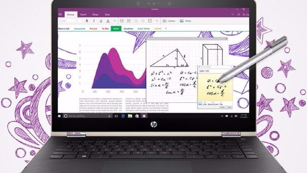 La HP Pavillion X360 cuenta con una pantalla táctil compatible con Windows Ink.
