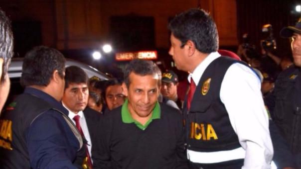 El expresidente Humala fue recluido en el penal de la Diroes.