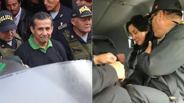 Ollanta Humala y Nadine Heredia pasaron este viernes su primera noche en los penales a los que fueron enviados por decisión del Inpe.