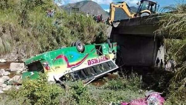 Accidente en Yambrasbamba