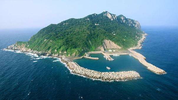Así luce la isla de Okinoshima