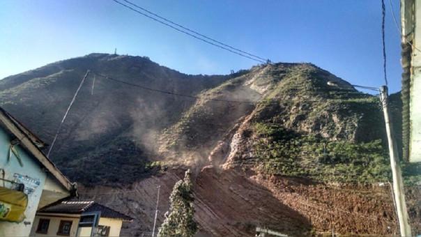 Cerro Hatum Rumi a punto de desprenderse.