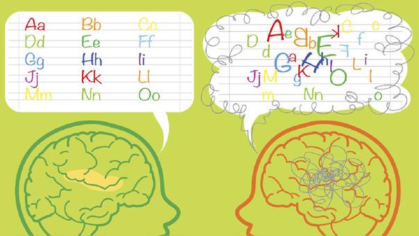 Los disléxicos confunden una letra por otra.