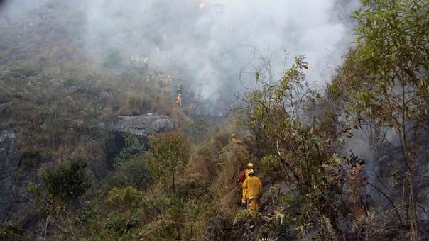 Incendio forestal en Machu Picchu