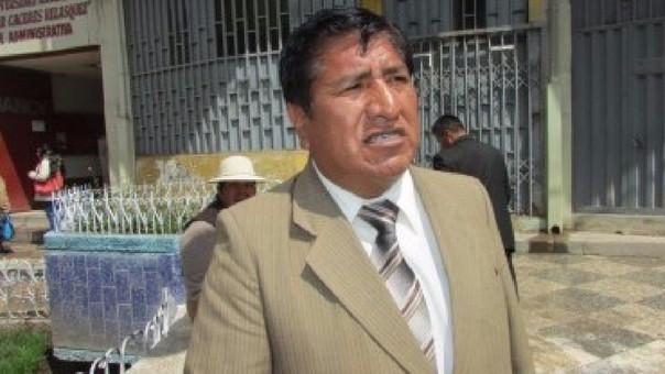 Pedro Quispe Quisocala, secretario general del Sutep base San Román.