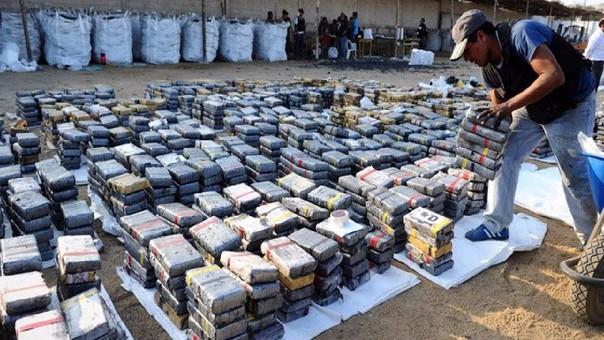 La droga fue incautada en Huanchaco y era camuflada en carbón.