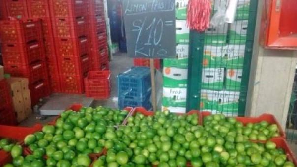 Precio del limón creció 105% el mes pasado.