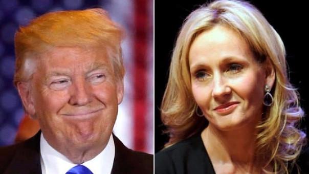 Trump es frecuentemente criticado por la escritora en redes sociales.