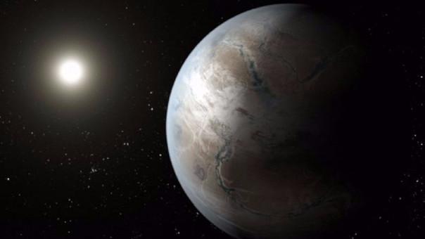 Posible apariencia del exoplaneta Kepler-452b.