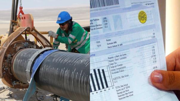 Vence plazo para establecer mecanismo de devolución de cobros por Gasoducto Sur en recibos de luz.