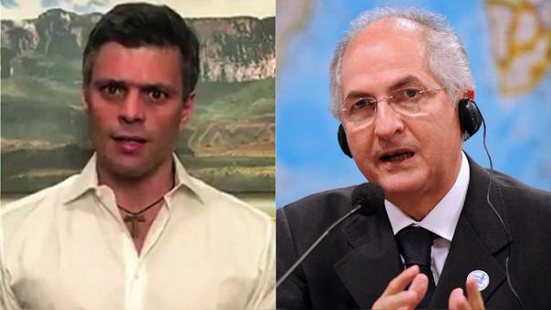 López y Ledezma son dos voces prominentes dentro de la oposición venezolana.