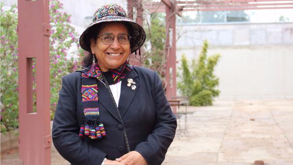 Profesora cusqueña Carmen Escalante.