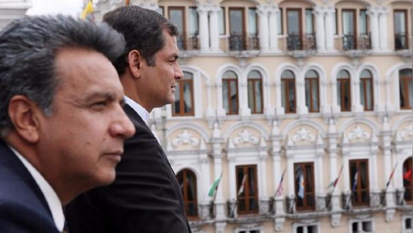 A pesar de la distancia que los separa. La guerra política entre Correa y Moreno se consolida.