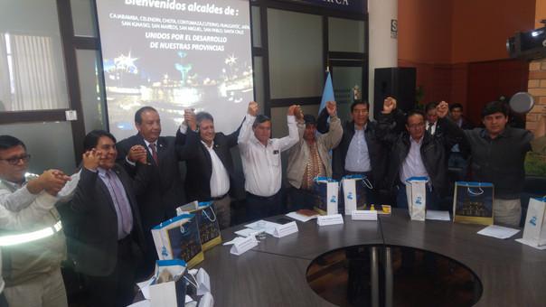 Alcalde unidos por reclamar mayor presupuesto para Cajamarca