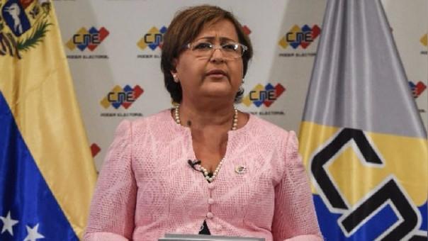 La presidenta del Consejo Nacional Electoral (CNE) de Venezuela, Tibisay Lucena.